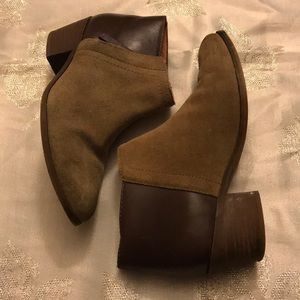 Madewell 6.5 suede leather ankle boots brown